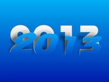 De gestileerde achtergrond van het Nieuwjaar van 2013 Gelukkige. Stock Foto