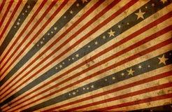 De gestileerde Amerikaanse vlag van Grunge Royalty-vrije Stock Afbeeldingen