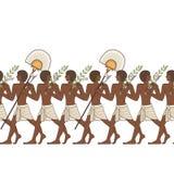 De gestileerde oude achtergrond van Egypte Stock Afbeeldingen