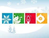 De gestileerde Pictogrammen van Kerstmis stock illustratie