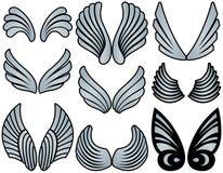 De gestileerde Vleugels van de Engel stock illustratie