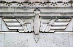 De Gestileerde Vogel van het art deco Royalty-vrije Stock Afbeeldingen