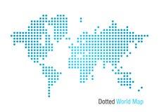 De gestippelde Kaart van de Wereld Stock Foto