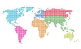 De gestippelde Kaart van de Wereld Royalty-vrije Stock Foto's