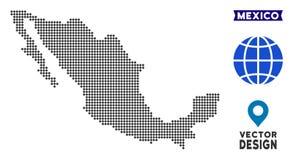 De gestippelde Kaart van Mexico vector illustratie