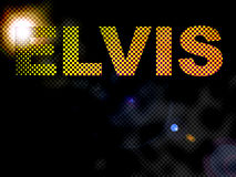 De gestippelde Tekst van het Teken van Elvis van Lichten Stock Foto's