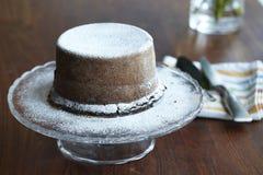 De gestoomde cake van de puddingschocolade stock afbeelding