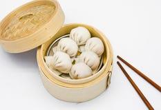 De gestoomde garnalenbollen verduisteren som Royalty-vrije Stock Afbeeldingen