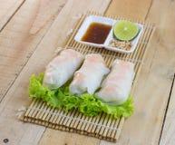 De gestoomde rijstnoedel rolt recept Stock Afbeelding
