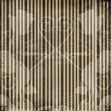 De gestreepte achtergrond van Grunge met oud ornament Royalty-vrije Stock Afbeelding