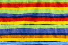 De gestreepte doek van de kleur royalty-vrije stock afbeelding