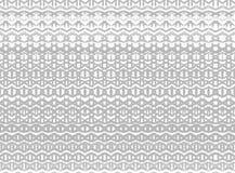 De gestreepte hand schilderde naadloos patroon met etnisch en tri Royalty-vrije Stock Foto's