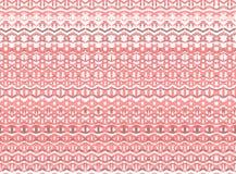 De gestreepte hand schilderde naadloos patroon met etnisch en tri Royalty-vrije Stock Fotografie