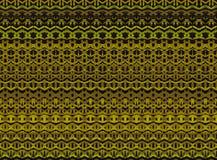 De gestreepte hand schilderde naadloos patroon met etnisch en tri Royalty-vrije Stock Afbeeldingen