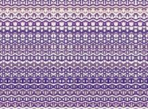 De gestreepte hand schilderde naadloos patroon met etnisch en tri Stock Foto's