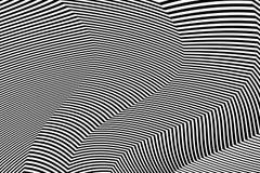 De gestreepte Vector van Ontwerp Zwart-witte Strepen Stock Afbeeldingen
