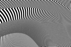 De gestreepte Vector van Ontwerp Zwart-witte Strepen Royalty-vrije Stock Afbeelding