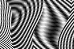 De gestreepte Vector van Ontwerp Zwart-witte Strepen Royalty-vrije Stock Fotografie