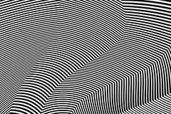 De gestreepte Vector van Ontwerp Zwart-witte Strepen Stock Foto