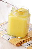 De gestremde melk van de citroen royalty-vrije stock foto