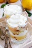 De gestremde melkdessert van de citroen Stock Afbeelding
