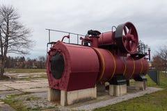 De getoonde aantrekkelijkheid van de stoom voortbewegingsmotor wernigerode monument stock afbeeldingen