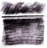 De getrokken cijfers zijn algemene kwaststreken met een horizontale lijn Th-vorm met lijnen royalty-vrije stock fotografie