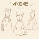 De getrokken illustratie van de schetsenkleding hand Royalty-vrije Stock Foto