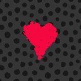 De getrokken kaart van Valentine hand stock illustratie