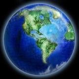 De getrokken planeet is Aarde vector illustratie
