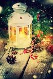 De getrokken van Kerstmisgiften van de Sneeuwvakantie Rode Bal Stock Foto