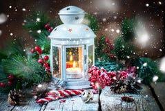De getrokken van Kerstmisgiften van de Sneeuwvakantie Rode Bal Royalty-vrije Stock Foto