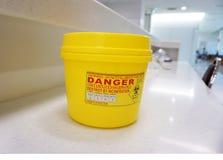 De gevaarlijke container Royalty-vrije Stock Afbeeldingen