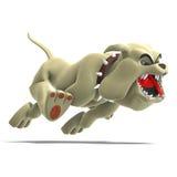 De gevaarlijke en grappige hond van Toon royalty-vrije illustratie