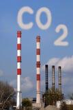 De gevaarlijke giftige wolk van Co2 stock fotografie