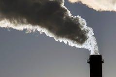De gevaarlijke giftige wolken van Co2 royalty-vrije stock afbeelding