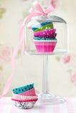 De gevallen van Cupcake Stock Foto's