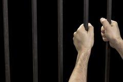 De gevangenis van de handgevangene stock afbeelding