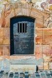 De Gevangenis van de kerkerdeur, Montjuic-Kasteel Barcelona stock afbeeldingen