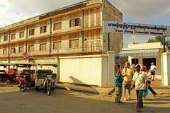 De Gevangenis van Sleng van Tuol, Phnom Penh Stock Afbeelding