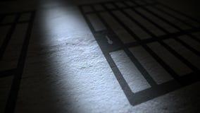 De gevangenis verspert Schaduw royalty-vrije illustratie