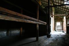De gevangenisbarakken van Auschwitz Stock Fotografie