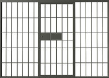 De gevangenisgevangenis verspert Illustratie Stock Afbeelding