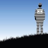 De gevangenisillustratie van de Prisionerprovincie in aard Royalty-vrije Stock Foto