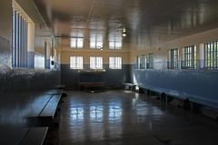 De Gevangenisvleugel van Nelson Mandel, Robben Island, Cape Town, Zuid-Afrika stock foto's