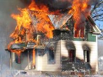 De Gevaren van de brand Stock Foto