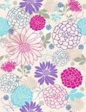 De gevoelige Naadloze Bloemen herhalen Patroon Royalty-vrije Stock Afbeeldingen