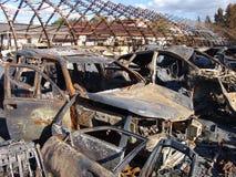 De gevolgen van brand Royalty-vrije Stock Fotografie