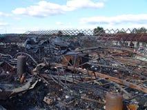 De gevolgen van brand Stock Afbeelding