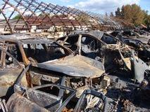 De gevolgen van brand Royalty-vrije Stock Foto